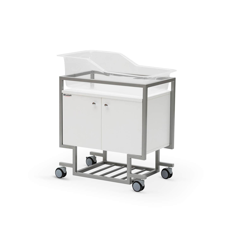 Hospital Crib & Cabinet
